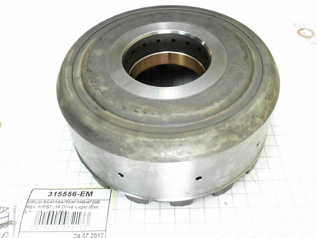Барабан сцепления Реверс, Reverse Clutch Drum, RE4F04A, RE4F04B, 4F20E, W/Piston (16 Drive Lugs) (Exc 3.5L) 1992-Up