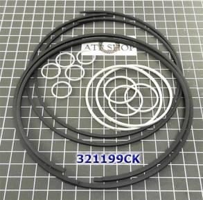 Комплект (14 шт) компрессионных тефлоновых колец, с большими кольцами (SEALING RINGS) для JF011E (CVT) RE0F10A...