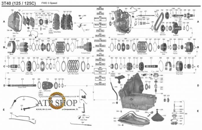 Трансмиссия 3T40   Интернет-магазин автозапчастей