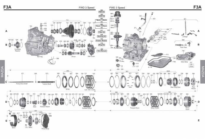акпп F3A, JF301H ASPIRE FESTIVA SPECTRUM STORM STYLUS 323 626