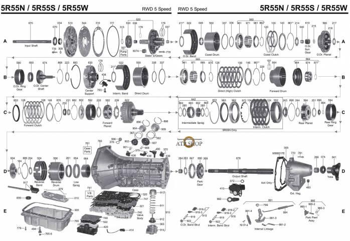 акпп 5R55S EVEREST EXPLORER/SPORT TRAC FALCON MOUNTAINEER MUSTANG RANGER TERRITO...