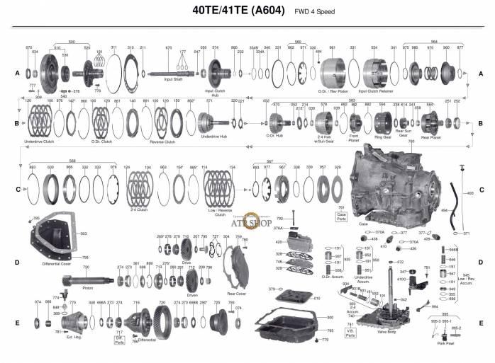 акпп A604 / A606 / 42RLE / 42LE / 40TE / 41TE / 41AE CIRRUS FIFTH AVENUE LEBARON...