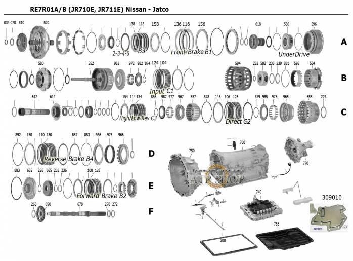 акпп JR711E (RE7R01B) FUGA EX30 FX50 FX56 M56 Q56 QX30 QX56 PATROL FRONTIER NAVA...