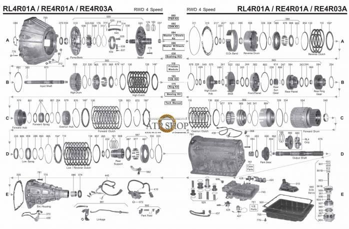 акпп RE5R01A 5-я серия FUGA NAVARA SKYLINE STAGEA XTERRA