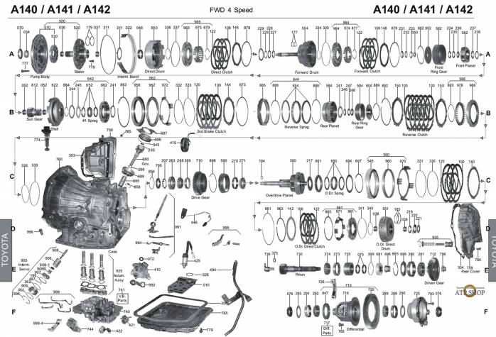 акпп A140E/L CAMRY