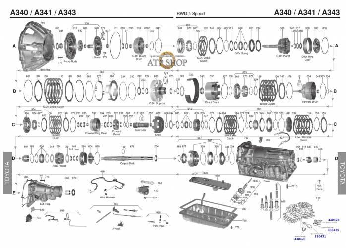 акпп A350E GS300