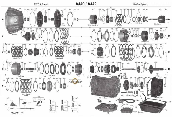 акпп A440F LAND CRUISER