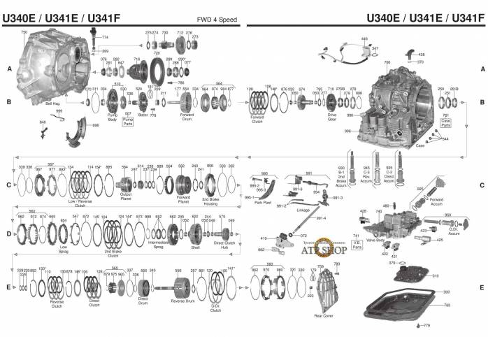 акпп U341E /F ALLION AURIS AVENSIS CALDINA CELICA GT COROLLA FIELDER ISIS IST MA...