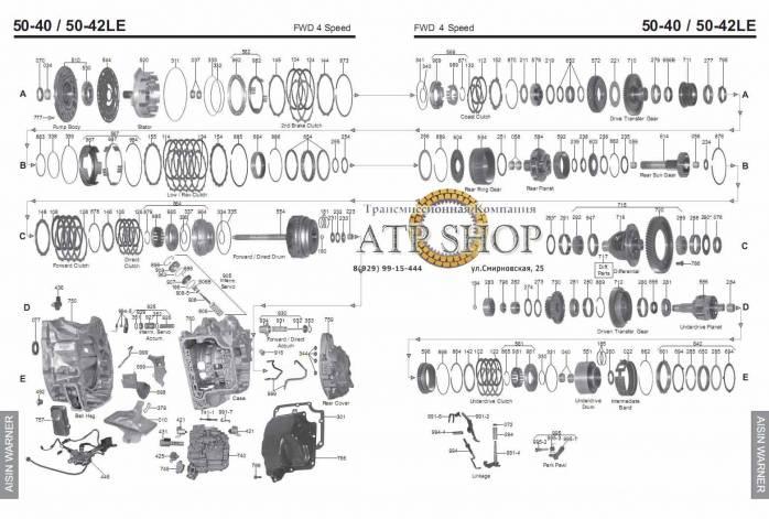 акпп AW50-42LE (AF20-AF22) EVANDA MAGNUS C70 V40 S70 V70 S80 S90 i30 CARNIVAL 9'...