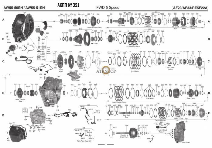 акпп AW55-51SN 7 C30 / C30 R C70 S40 S60 V50 KUGA I35 550 750 SM7 XC90