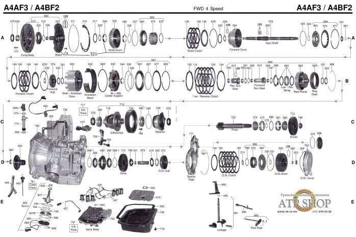 акпп A4BF-2/ A4BF-3 AVANTE ELANTRA GETZ i30 LAVITA MATRIX