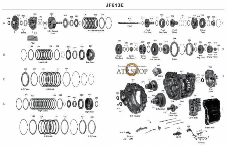 акпп JF613E LANCER OUTLANDER MURANO PATHFINDER QASHQAI / QASHQAI+2 X-TRAIL ESPAC...