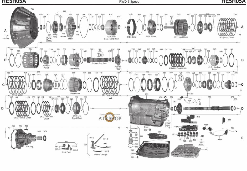 акпп RE5R05A (JR507E) 350ZX ARMADA CARAVAN CIMA ELGRAND FAIRLADY Z ROADSTER FRON...